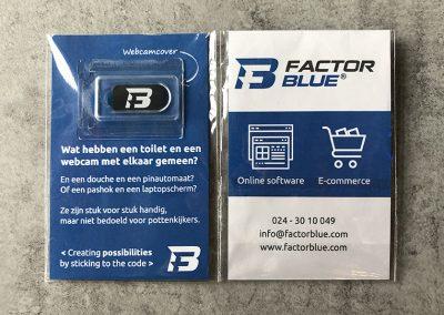 Factor Blue webcam cover